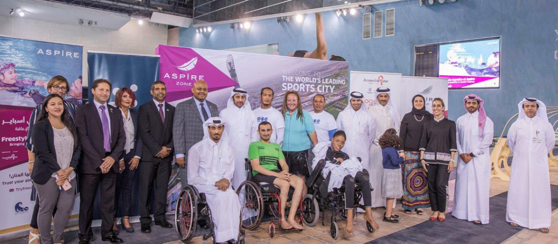 """image about Aspire Zone Foundation officially launches the """"Freestyle Aquatics at Aspire"""" for Disability Challengers"""
